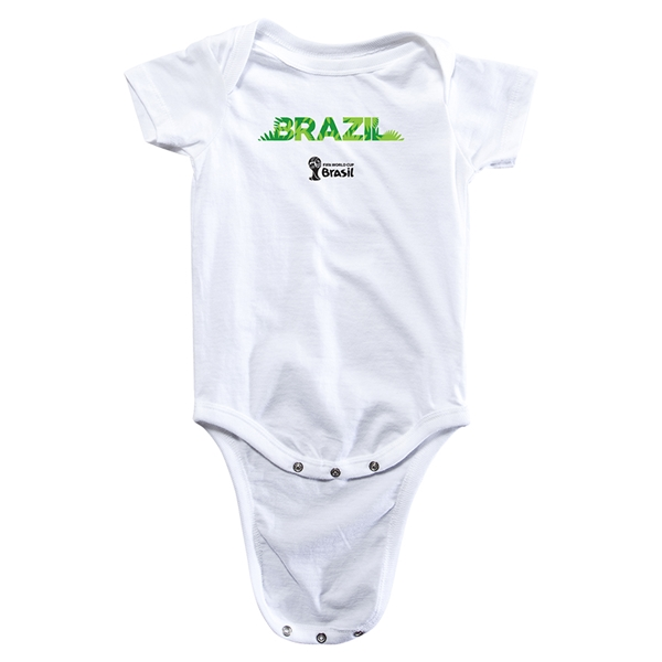 Brazil 2014 FIFA World Cup Brazil(TM) Palm Onesie (White)