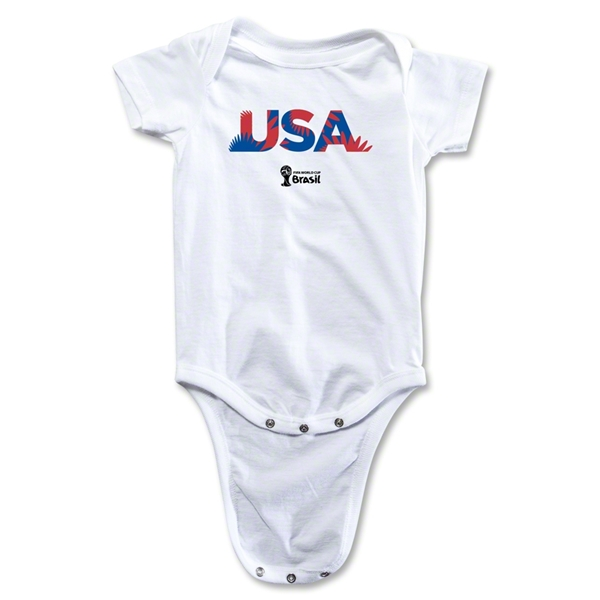 USA 2014 FIFA World Cup Brazil(TM) Palm Onesie (White)