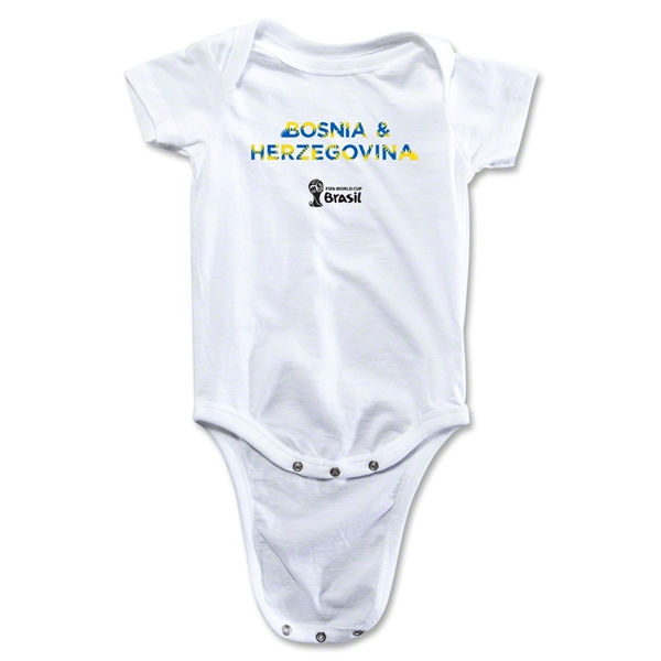 Bosnia-Herzegovina 2014 FIFA World Cup Brazil(TM) Palm Onesie (White)