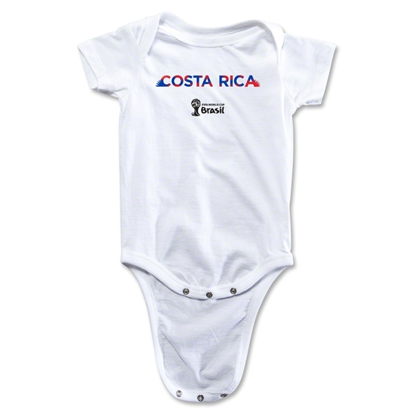 Costa Rica 2014 FIFA World Cup Brazil(TM) Palm Onesie (White)