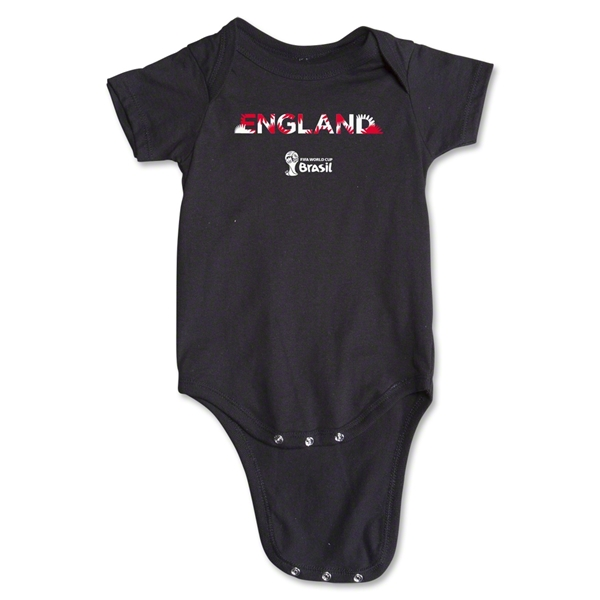 England 2014 FIFA World Cup Brazil(TM) Palm Onesie (Black)