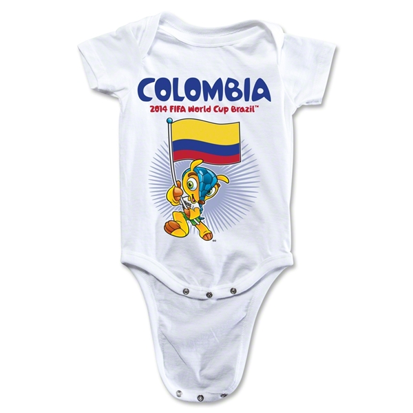 Colombia 2014 FIFA World Cup Brazil(TM) Mascot Flag Onesie (White)