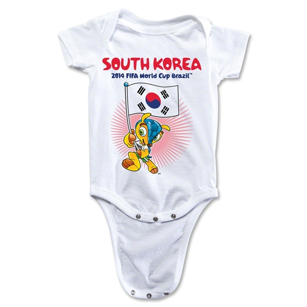 South Korea 2014 FIFA World Cup Brazil(TM) Mascot Flag Onesie (White)