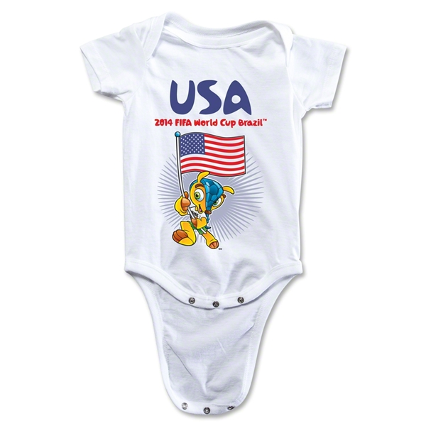USA 2014 FIFA World Cup Brazil(TM) Mascot Flag Onesie (White)