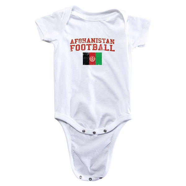 Afghanistan Football Onesie (White)