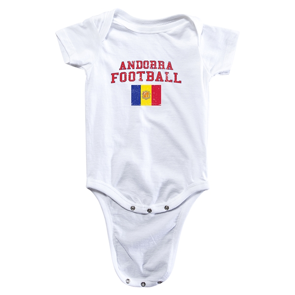 Andorra Football Onesie (White)