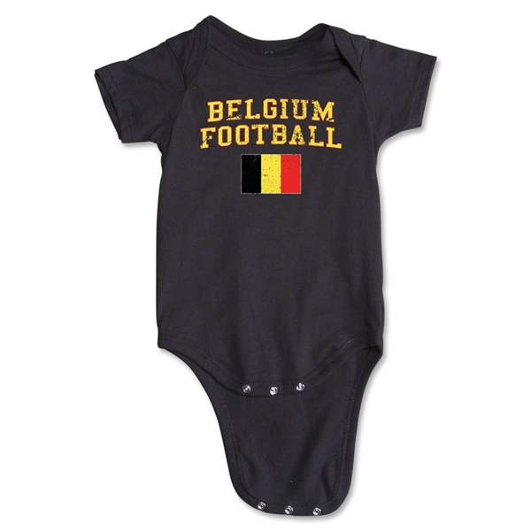 Belgium Football Onesie (Black)