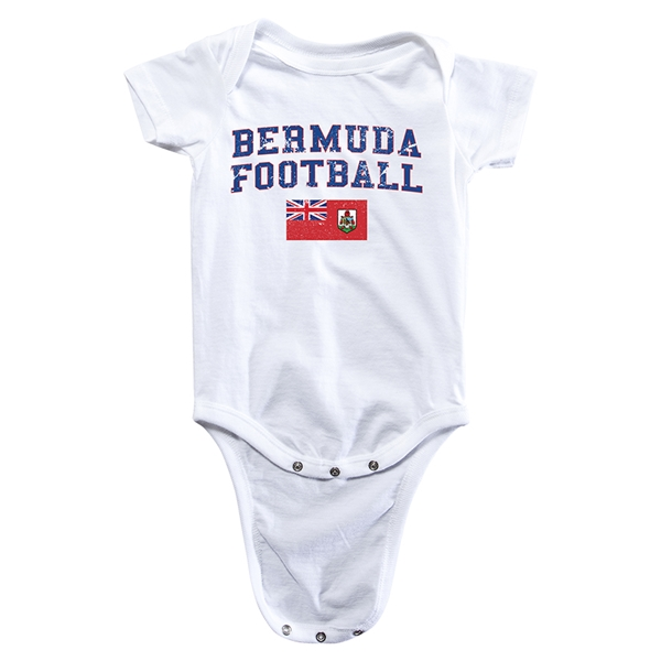 Bermuda Football Onesie (White)