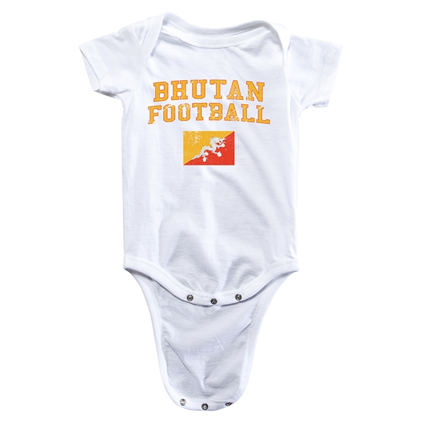Bhutan Football Onesie (White)