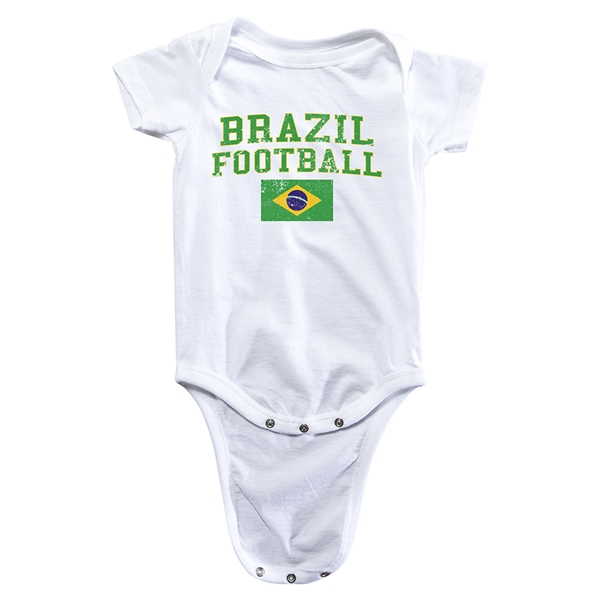 Brazil Football Onesie (White)
