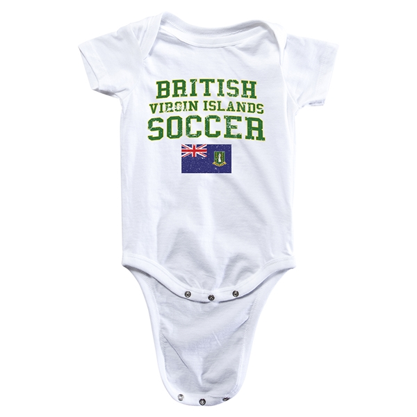 British Virgin Islands Soccer Onesie (White)