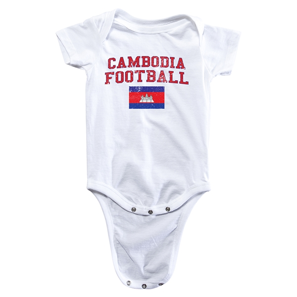 Cambodia Football Onesie (White)