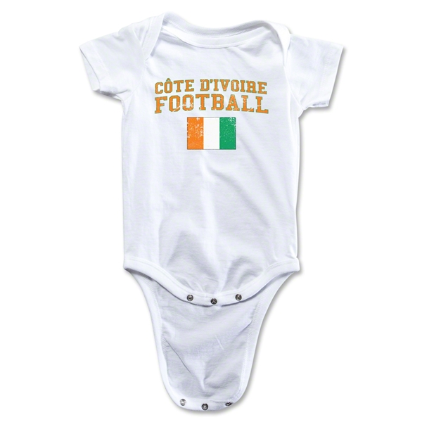 Cote d'Ivoire Football Onesie (White)