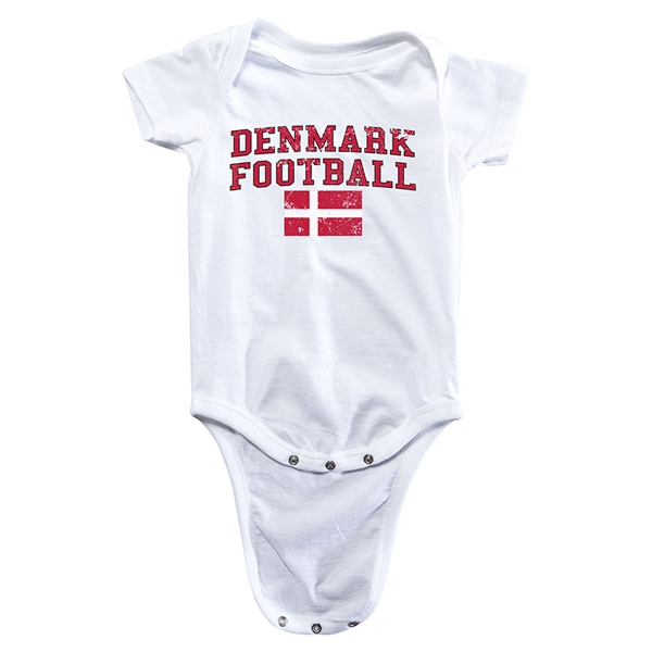 Denmark Football Onesie (White)