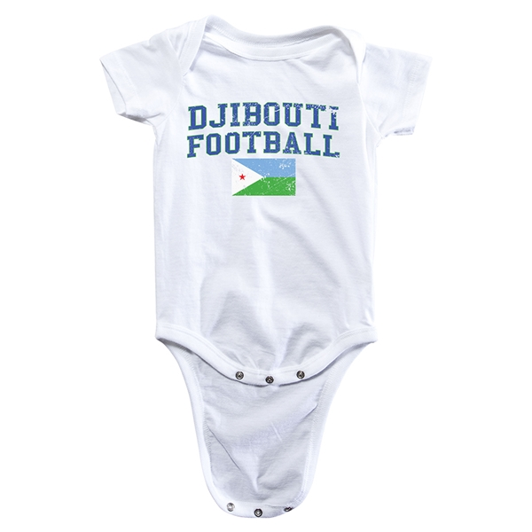 Djibouti Football Onesie (White)