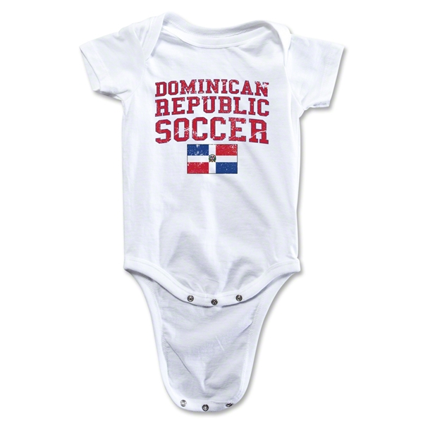 Dominican Republic Soccer Onesie (White)