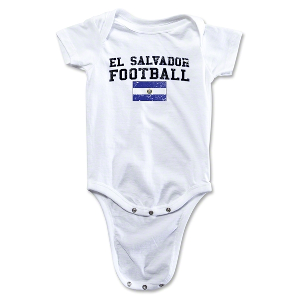 El Salvador Football Onesie (White)