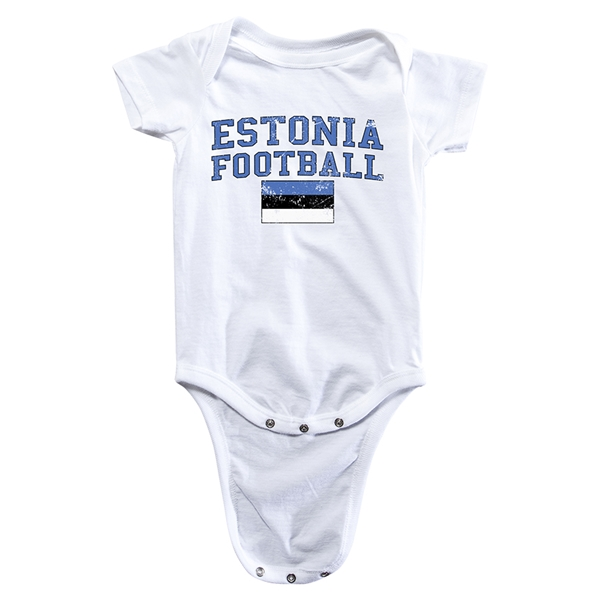 Estonia Football Onesie (White)
