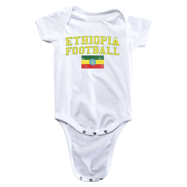 Ethiopia Football Onesie (White)