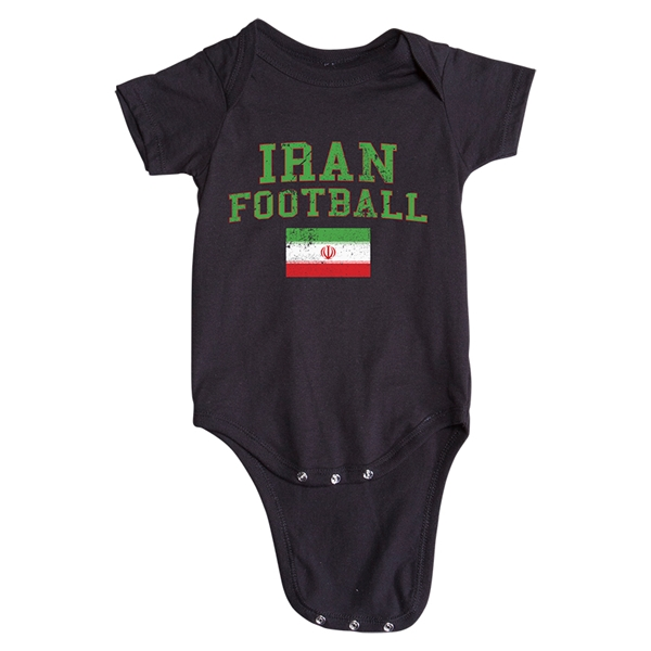 Iran Football Onesie (Black)