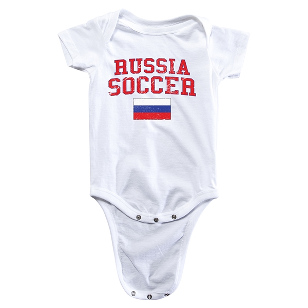 Russia Soccer Onesie (White)
