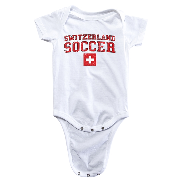 Switzerland Soccer Onesie (White)