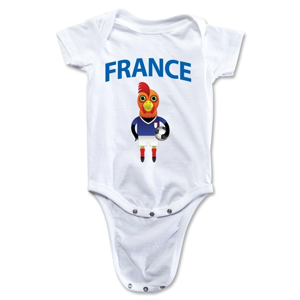 France Animal Mascot Onesie (White)