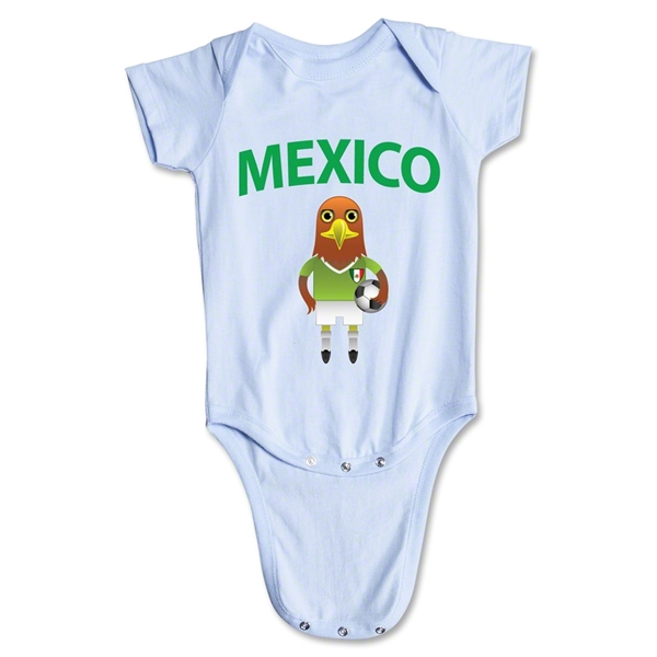 Mexico Animal Mascot Onesie (Sky)