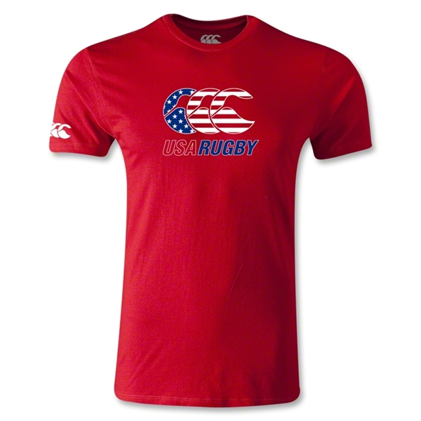 USA Rugby Stars and Stripes T-Shirt (Red)