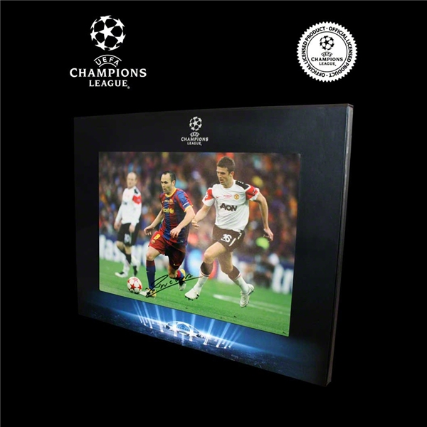 Icons Official UEFA Champions League Signed Andres Iniesta Barcelona 2011 Final Photo