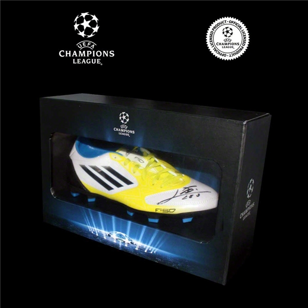 Icons Official UEFA Champions League Leo Messi Signed Cleat