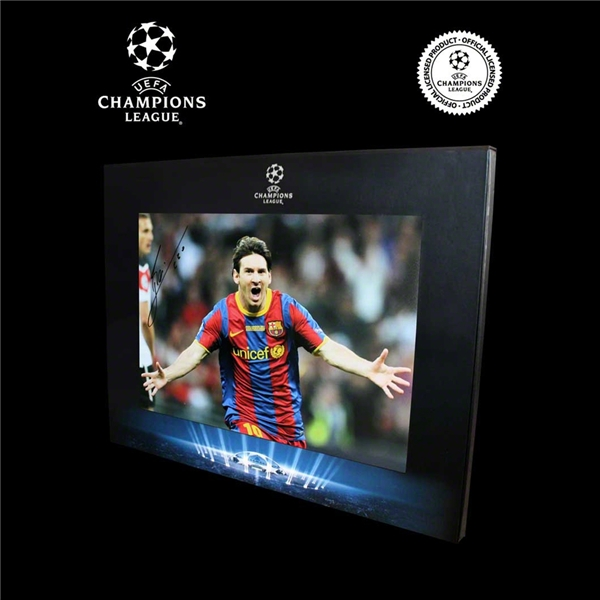 ICONS Official UEFA Champions League Leo Messi Signed 2011 Final Goal Photo