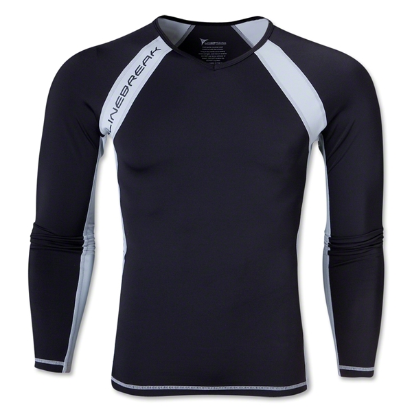 Linebreak LS Compression T-Shirt (Black)