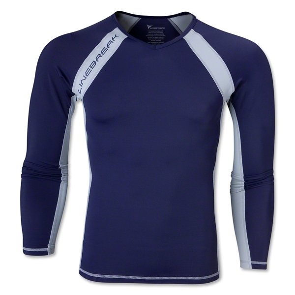Linebreak LS Compression T-Shirt (Navy)