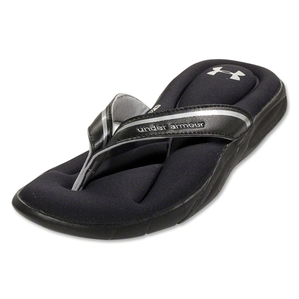 Under Armour Women's Marbella III Sandal (Black/Metallic Silver)