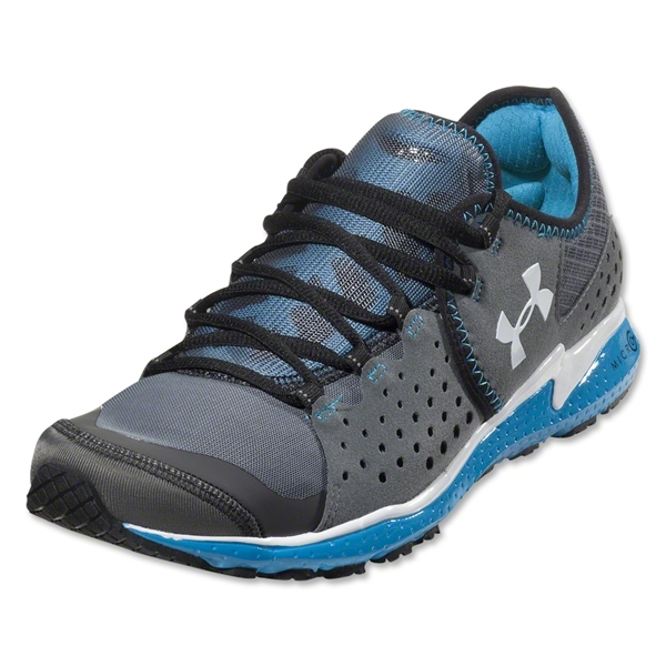 Under Armour Micro G Mantis Running Shoe (Charcoal/Blue Heat/White)
