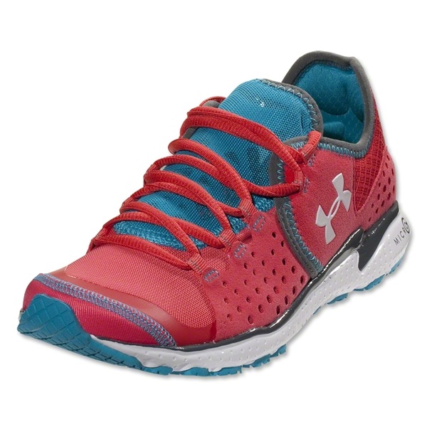 Under Armour Women's Micro G Mantis Running Shoe (Hibiscus/White)