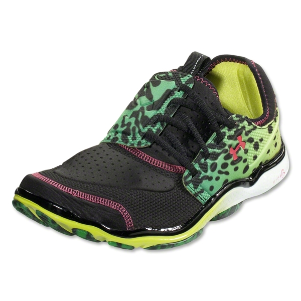 Under Armour Micro G Toxic Six Running Shoe (Black/Bitter/Hollywood)