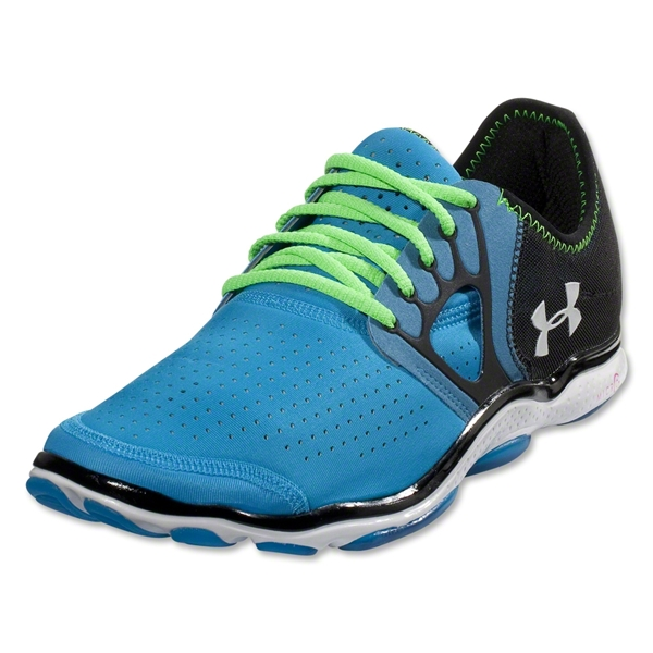 Under Armour Feather Radiate Running Shoe (Blue Heat/Poison/White)