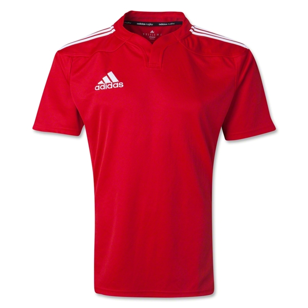 adidas Three Stripe 13 Rugby Jersey (Red)