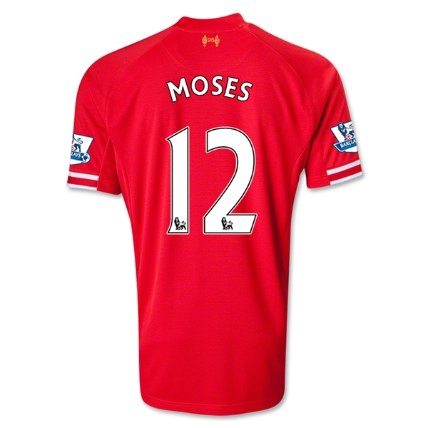 Liverpool 13/14 MOSES Home Soccer Jersey