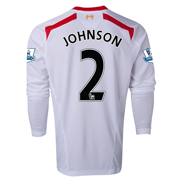 Liverpool 13/14 JOHNSON LS Away Soccer Jersey