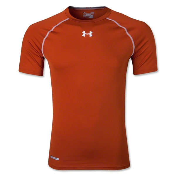 Under Armour Heatgear Sonic Compression T-Shirt (Dark Orange)