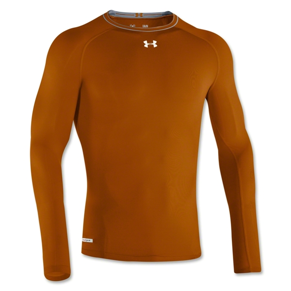 Under Armour Heatgear Sonic Compression LS T-Shirt (Dark Orange)