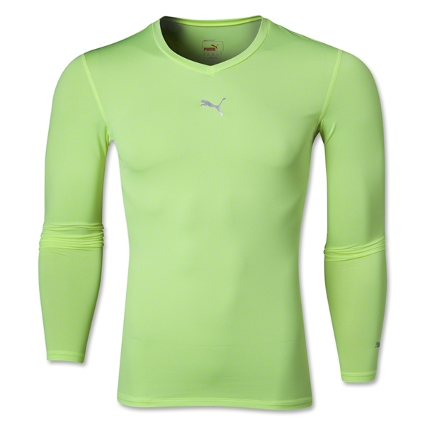PUMA Lite LS V-Neck T-Shirt (Neon Yello)