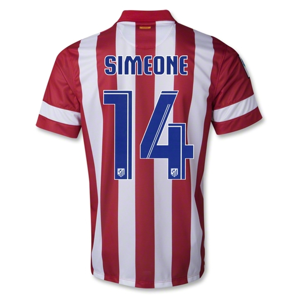 Atletico Madrid 13/14 SIMEONE Home Soccer Jersey