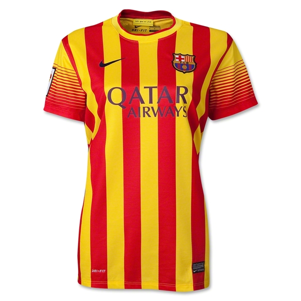 Barcelona 13/14 Women's Away Soccer Jersey