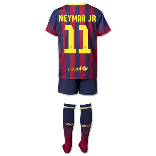 Barcelona 13/14 NEYMAR JR Kids Home Kit
