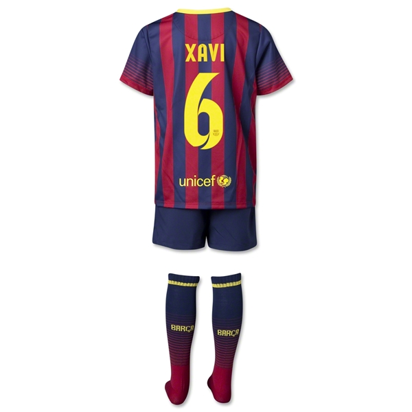 Barcelona 13/14 XAVI Kids Home Kit