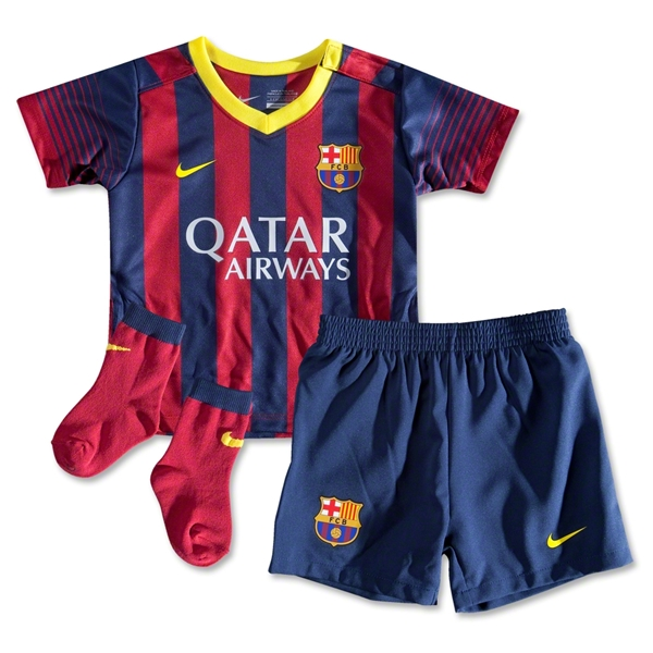 Barcelona 13/14 Infant Home Soccer Kit
